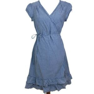 Converse One Star Blue V-neck Short Sleeve Dress